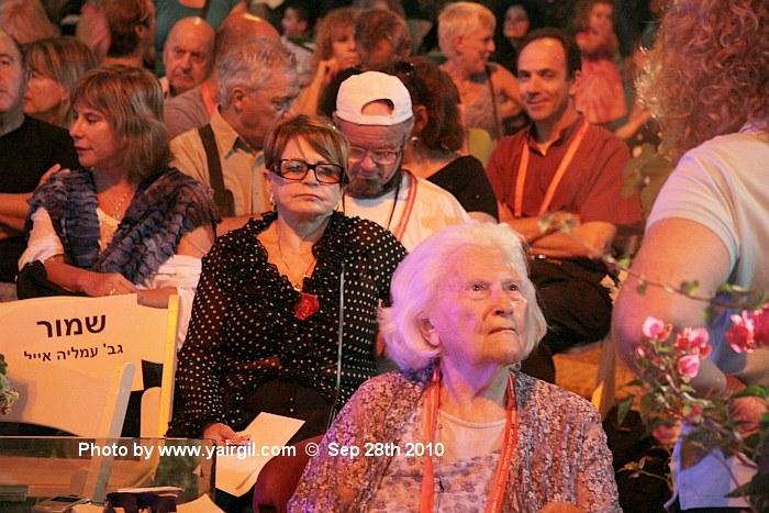 עודד קוטלר הזכיר בדבריו את ליה ואן ליר שישבה בקהל