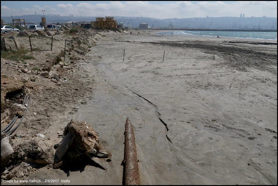 הזרמת חול בחוף חיפה