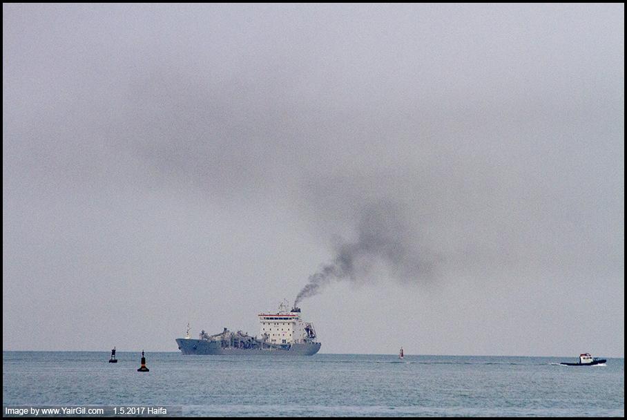 עשן אניות - שימוש בדלק רב גפרית