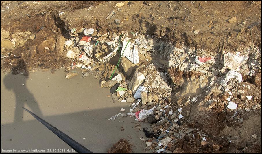 חוף חיפה: פלסטיק ניילון ועצמים לא מזוהים