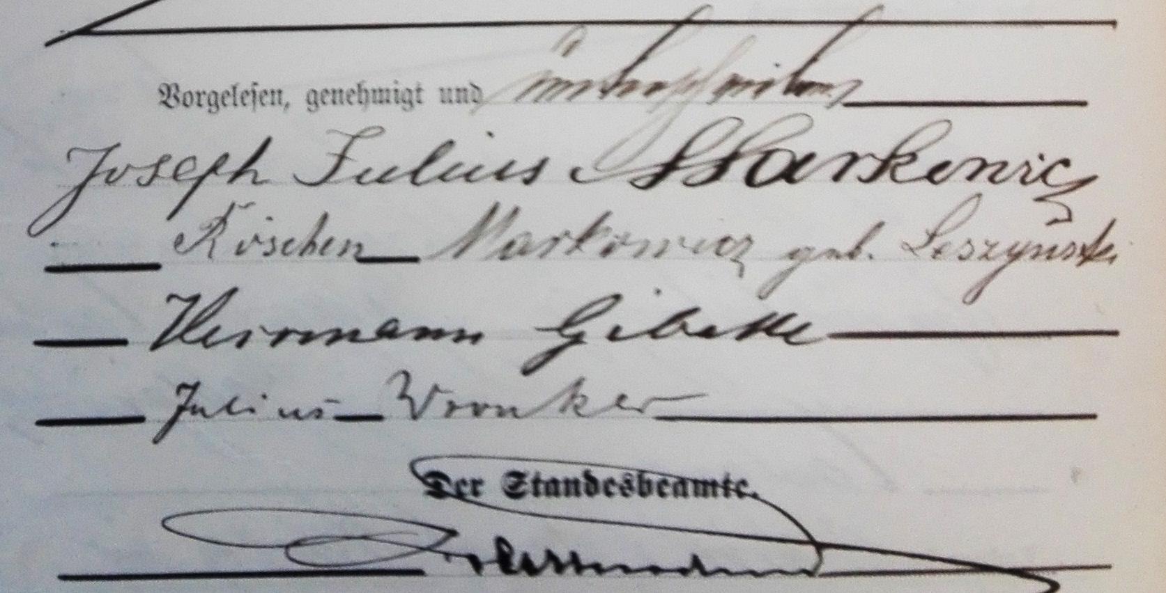 הזוג הצעיר 1896 - והעדים