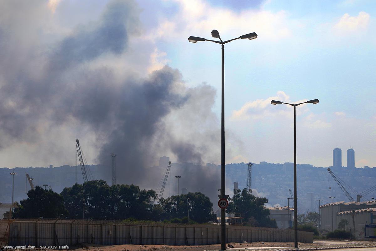 שריפה במפעל שמן