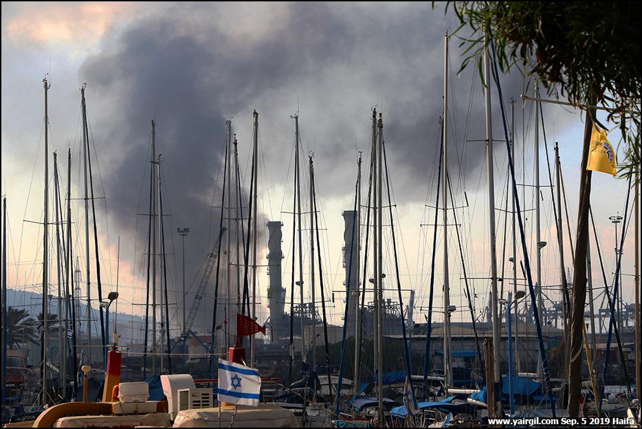 מפעל שמן נשרף