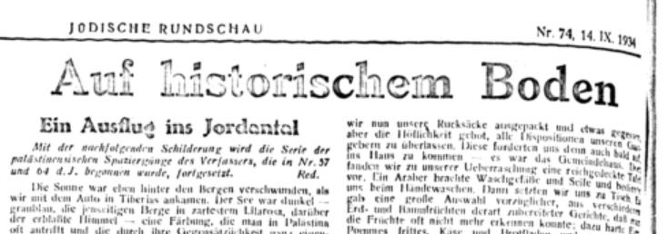 - Headline from the Archive Auf historischem Boden
