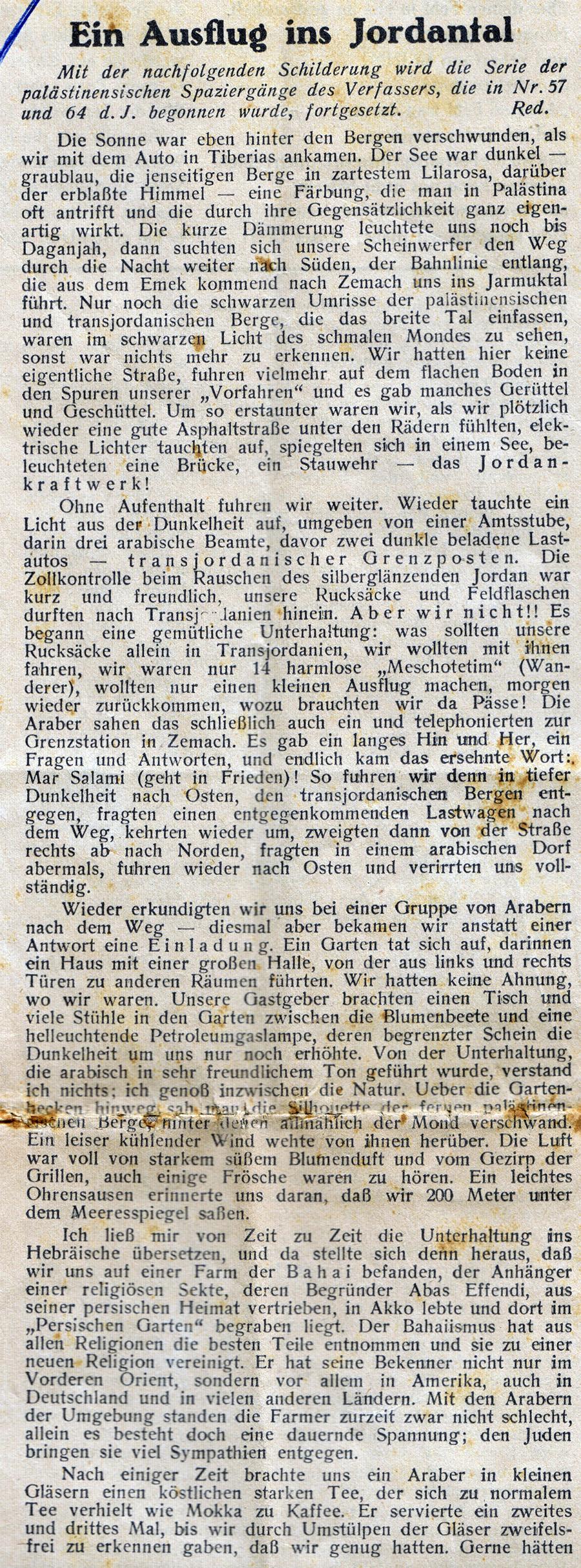 14.3.1934 Auf historischem Boden