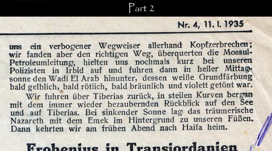 Dr. Robert Beer Reisen im Morgenland-11-1-1935-cont end